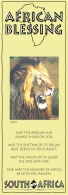 African Bookmark Male Lion