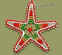 Beaded Christmas Star.1