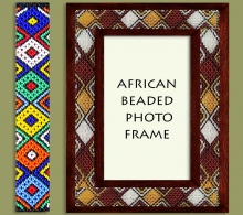 African Corporate Gifts Beaded Photo Frames