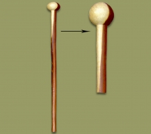 Knobkerrie Walking Stick