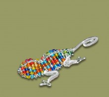 African Bead and Wirework Lizard