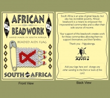 Beaded Aids Flag Packaging