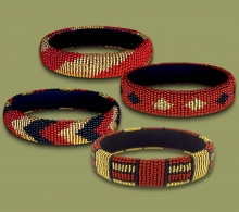Mixed Thin Bangles Gold Brown Black