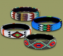 Mixed Thin Bangles Zulu Colors.1
