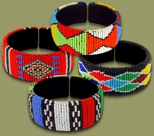 Mixed Wide Bangles Zulu Colors.1