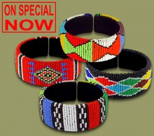 ON SPECIAL Mixed Wide Bangles Zulu Colors