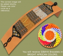 Beaded Bracelet Sibaya Bright African Colors