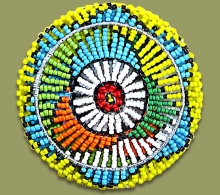Beaded Coasters Set X 6 Zulu Colors