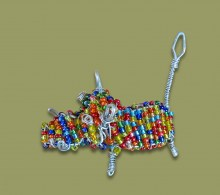 African Bead and Wirework Warthog
