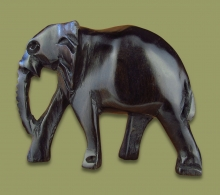 Elephant Ebony Wood Carving