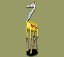 Painted Wood Giraffe
