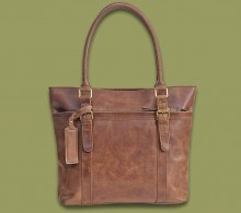 Leather Handbag Savanna Waxy Brown