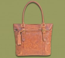 Leather Handbag Savanna Waxy Tan