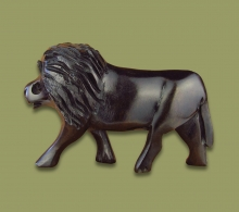 Lion Ebony Wood Carving
