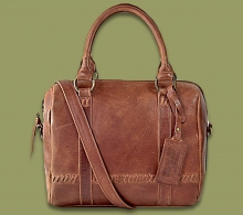 Thandeka Leather Handbag - Waxy Tan