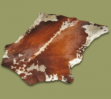 Nguni Hide.14 Brown And White Saddle