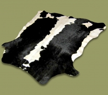 Nguni Hide.19 White Black Saddle - A GRADE HIDE