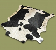 Nguni Hide.21 Black-White - A GRADE HIDE