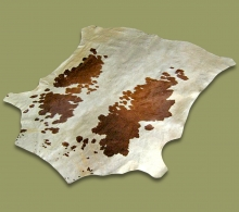 Nguni Hide.25 White Brown - A GRADE HIDE
