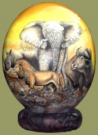 Ostrich Egg Decoupage Big Five.1