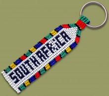 Beaded Key Ring SOUTH AFRICA