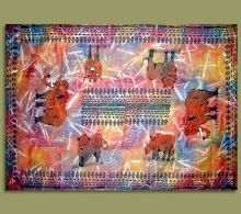 African Tablecloth Big Five.1