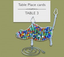Beaded Warthog Table Place Card Holder