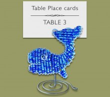 Beaded Whale Table Place Card Holder