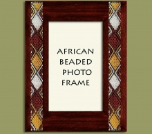 Beaded Photo Frame Gold Brown Black Silver x 2