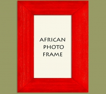 Wood Photo Frame Red
