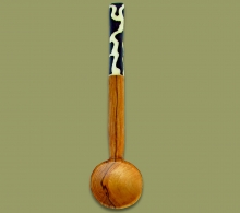 Sugar Spoon Wood Bone Handle