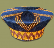 Zulu Hat Traditional Black Orange