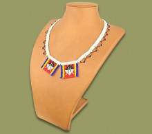 Beaded Necklace Zulu Love Letter Shields