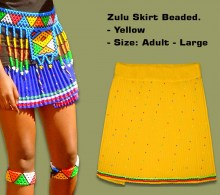Beaded Zulu Skirt Adult Yellow Large