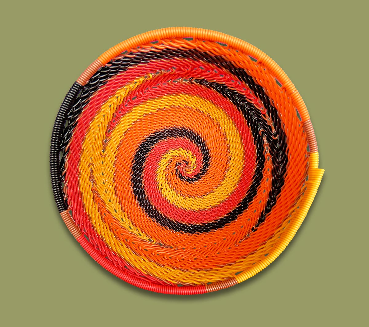 Telephone Wire Bowls Size.2 African Sunset