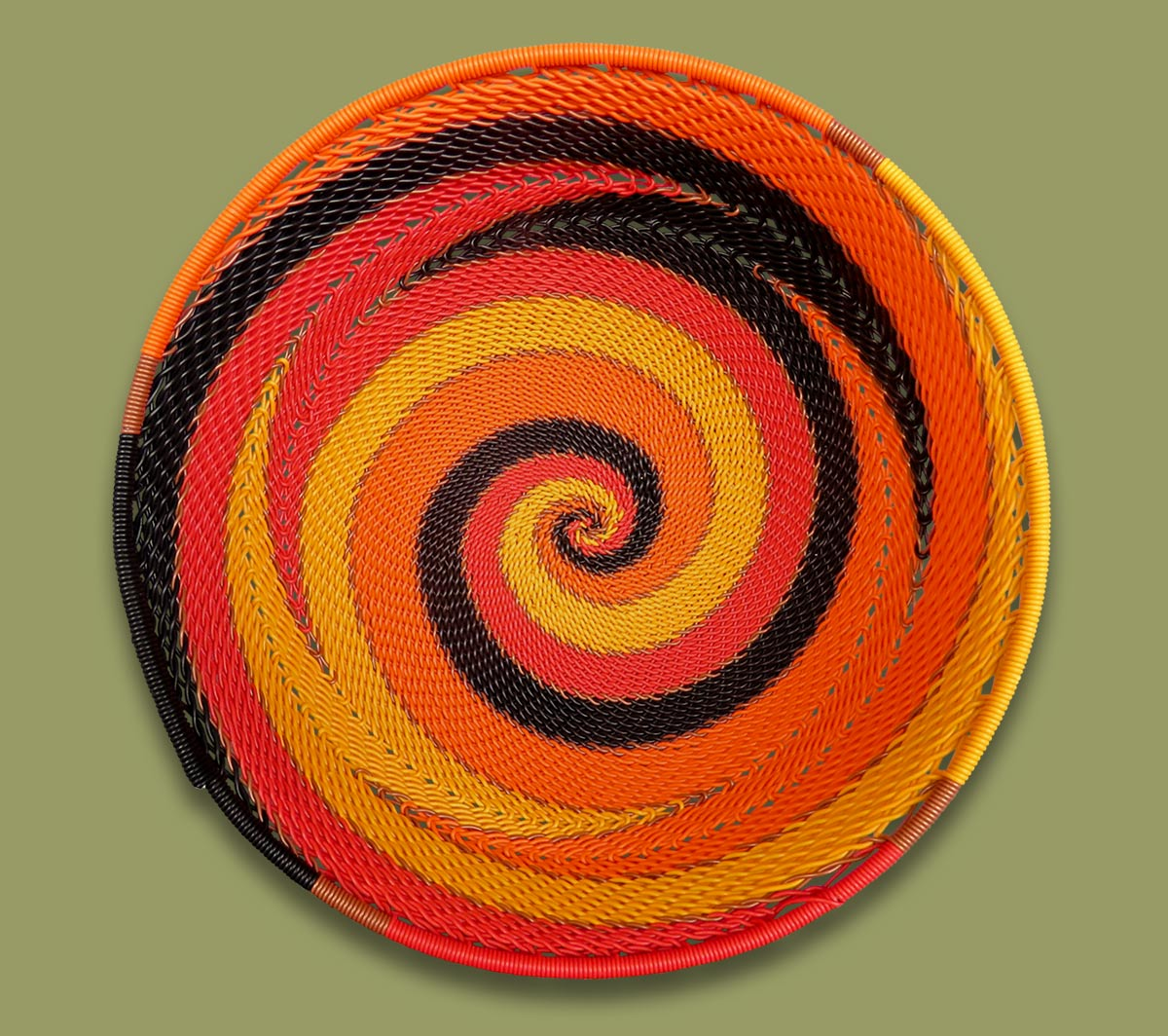 Telephone Wire Bowls Size.4 African Sunset