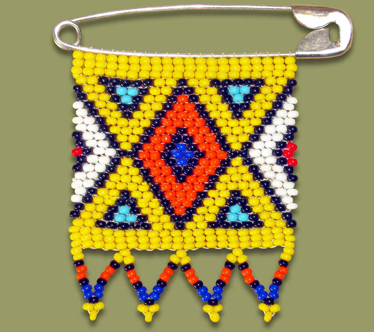 Zulu Love Letter Geometric Yellow