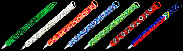 African Beaded Pens