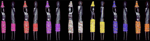African Beaded Statues
