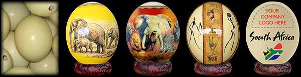 Decoupage Ostrich Eggs.