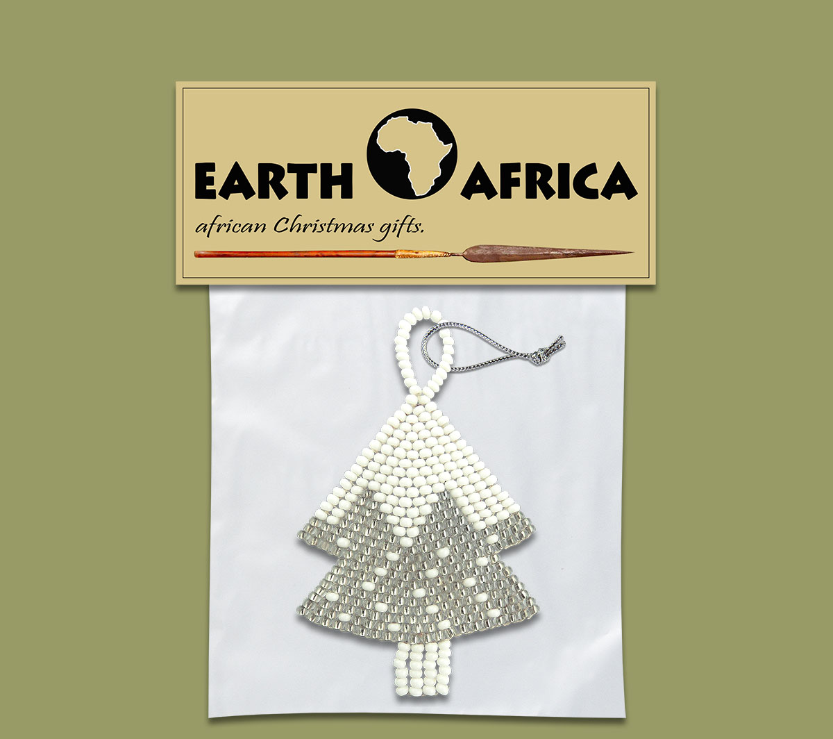 Pack X 1 Christmas Tree Silver White