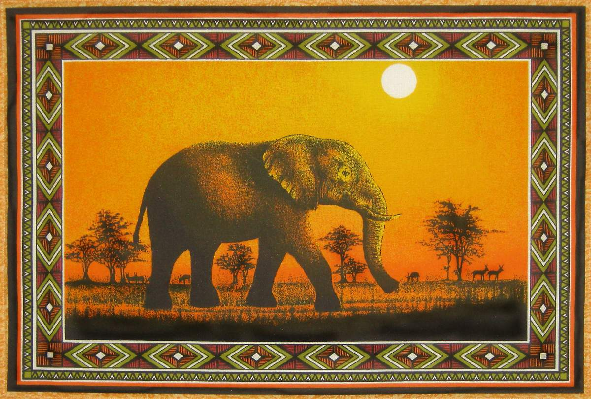 African Tableware Assorted African Table Mats 1