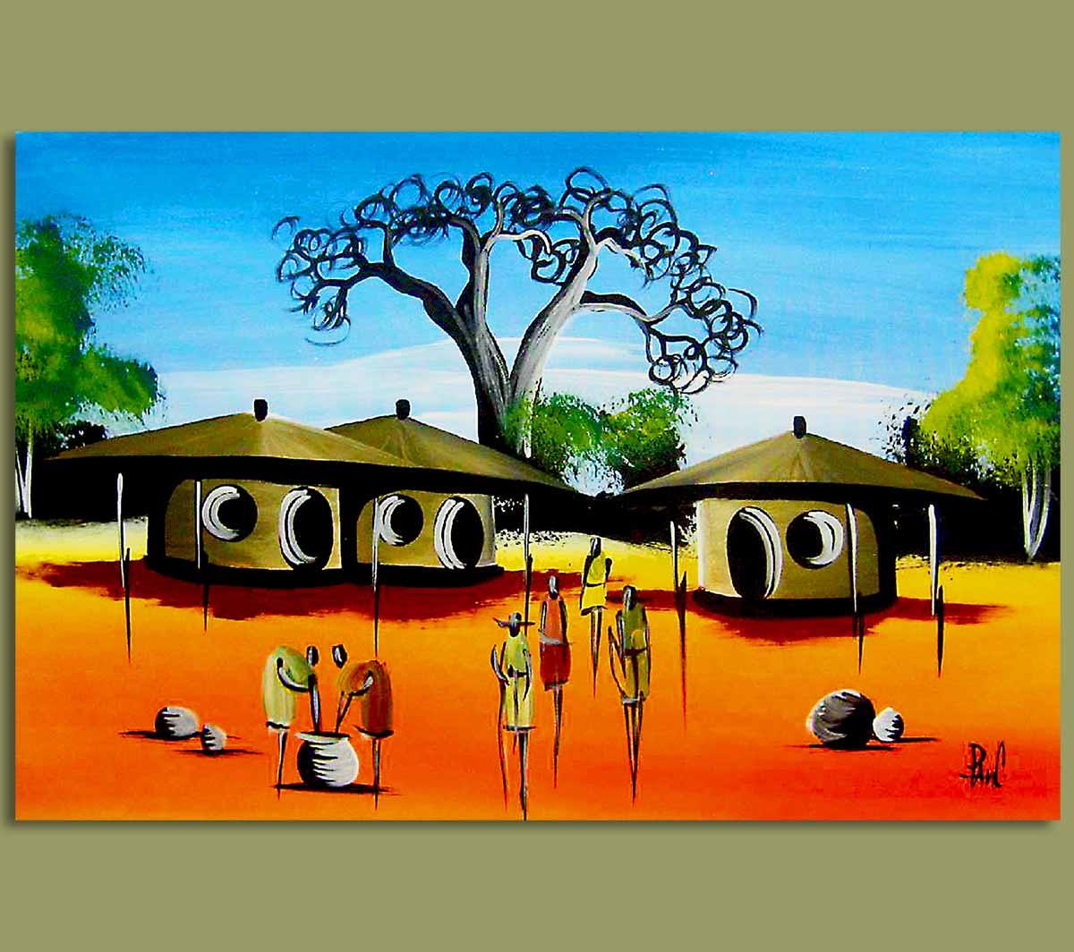 art village scene