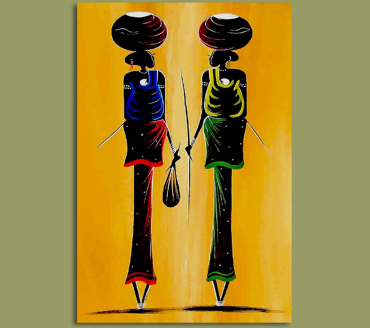 African Art Water Carriers.2