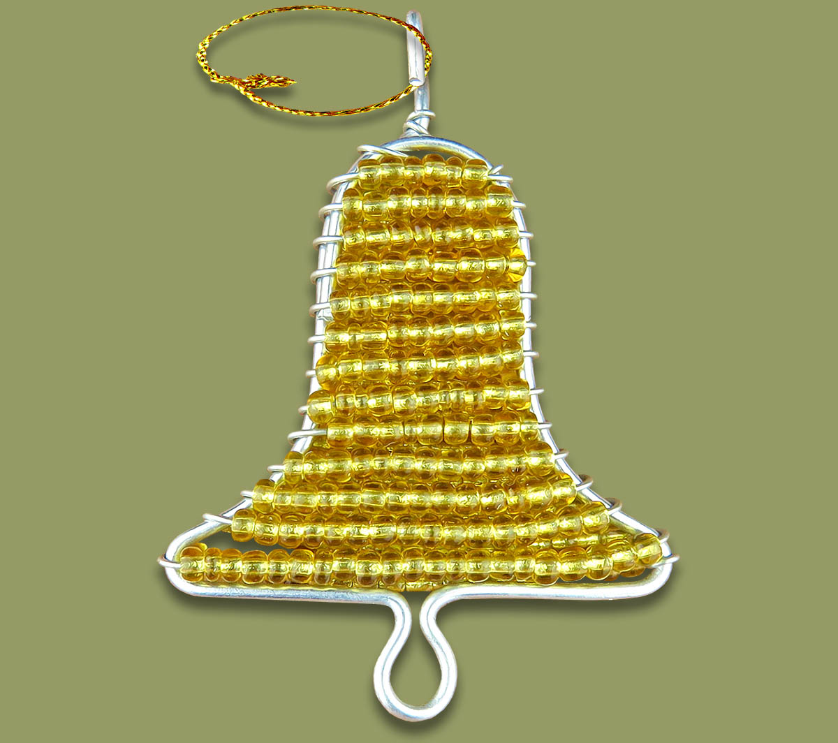 African Beaded Christmas Bell