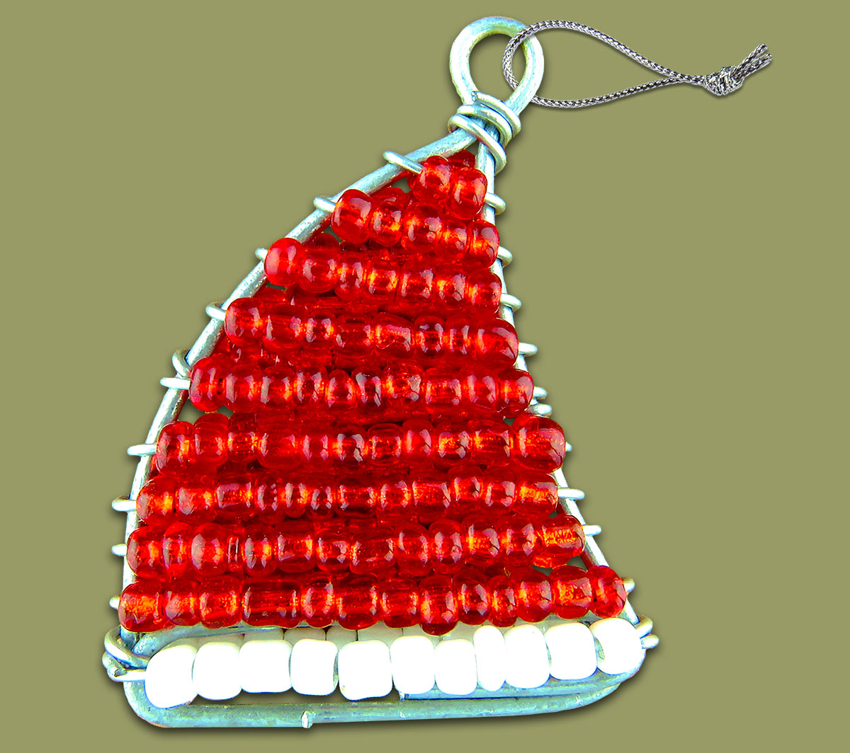african beaded christmas santa hat - African Christmas Decorations