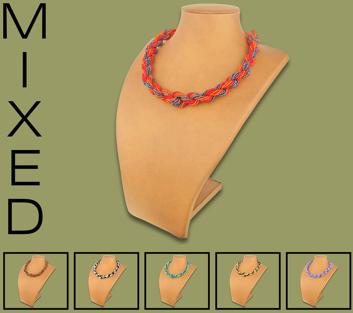 African Beaded Necklaces Khanyo Mixed