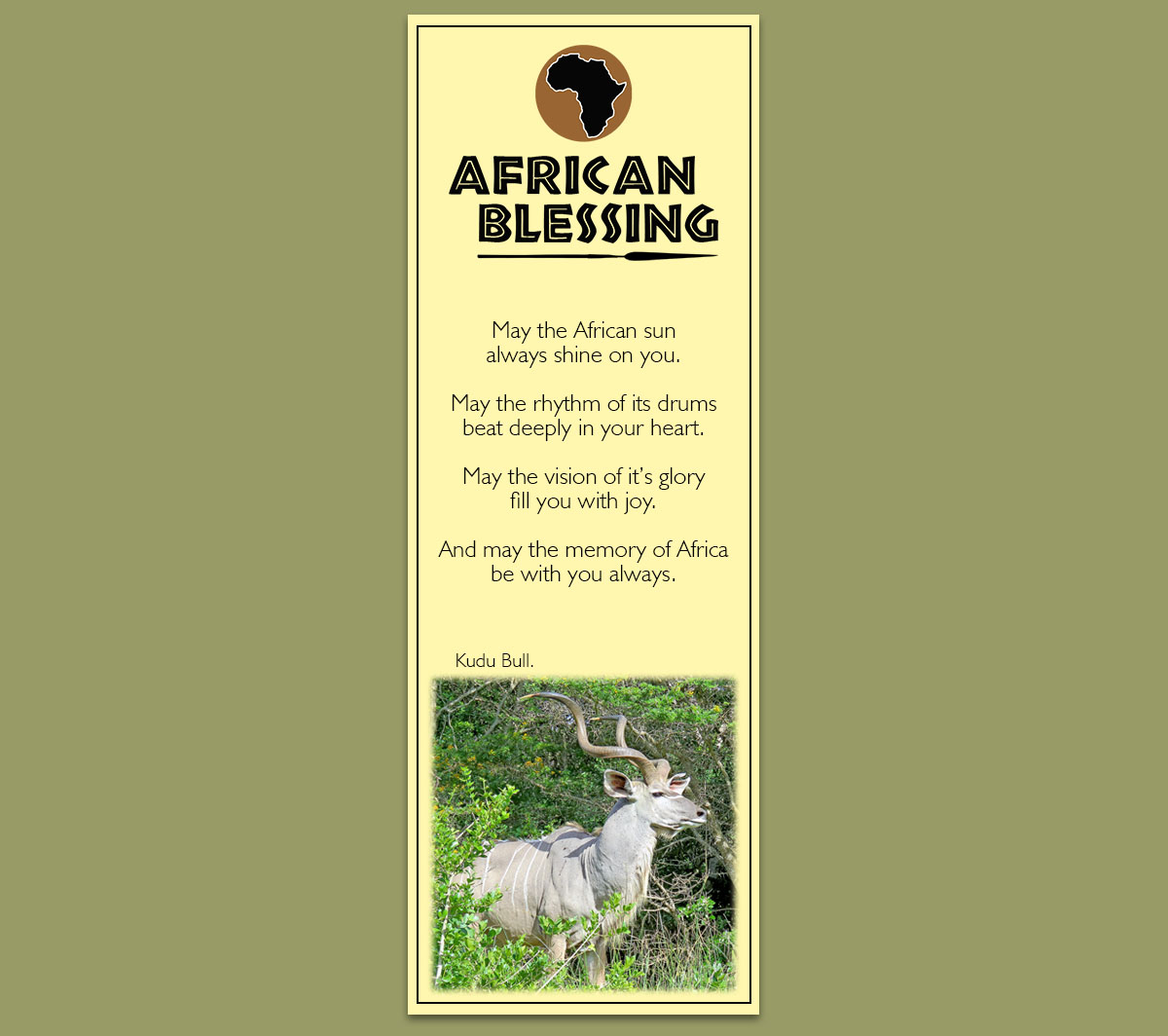 Kudu Bull Bookmarks
