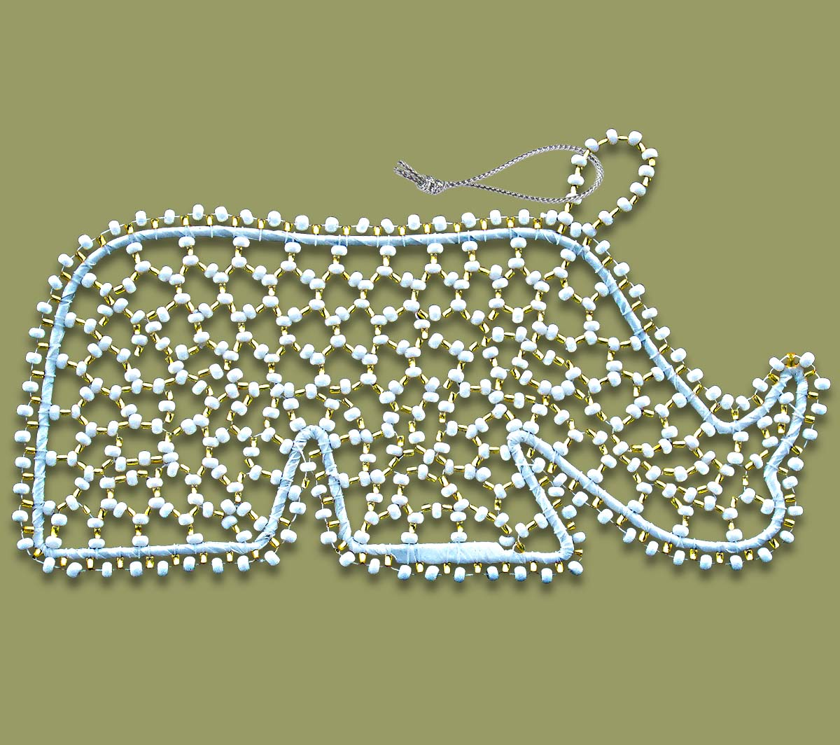 African Christmas Decorations Beaded Rhino