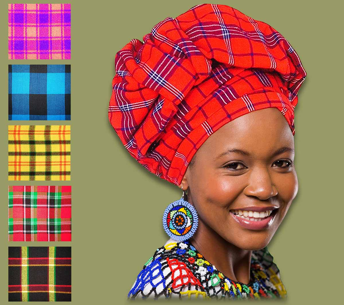 African Headscarf - Headwrap - Doek - Head Sceaves- Wholasale